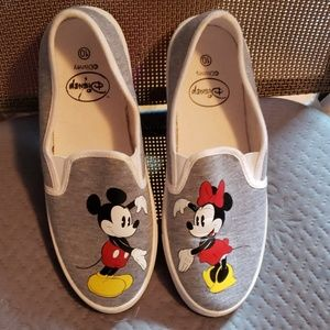 Hot topic minnie and mickey slip on sneakers